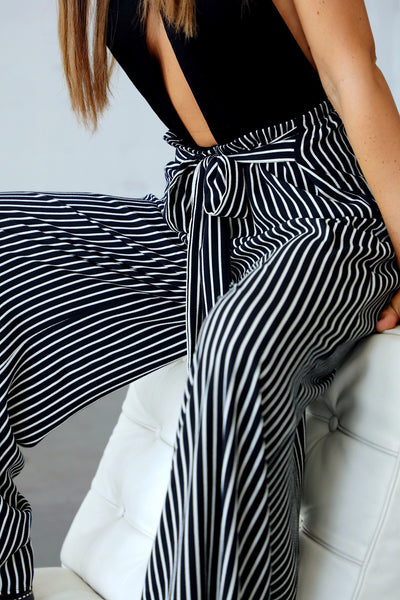 LIGONIER STRIPED PANT (BLACK)