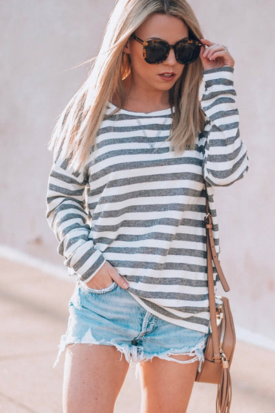 DECKER STRIPED SWEATSHIRT