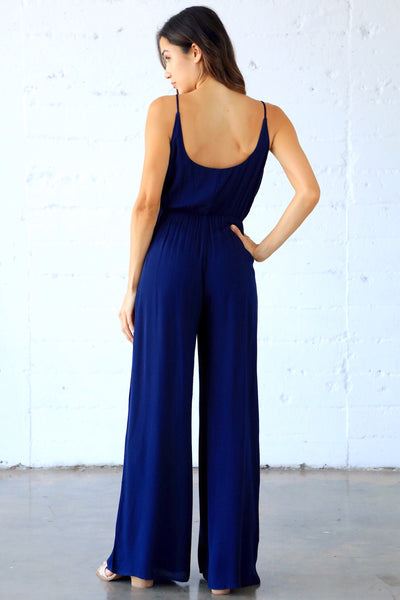 YOU HAD ME AT MERLOT PANTSUIT (NAVY)