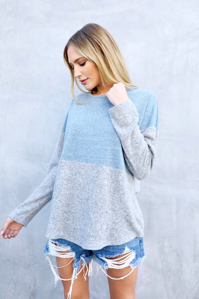 LEO COLORBLOCK BASIC (PALE BLUE)