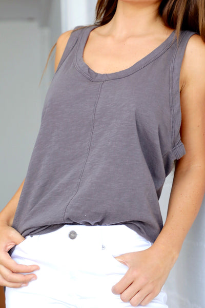VINTAGE SCOOP NECK TANK