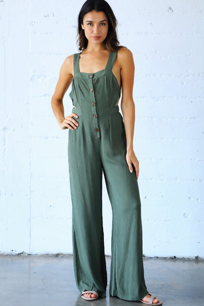 HEMLOCK BUTTON PANTSUIT