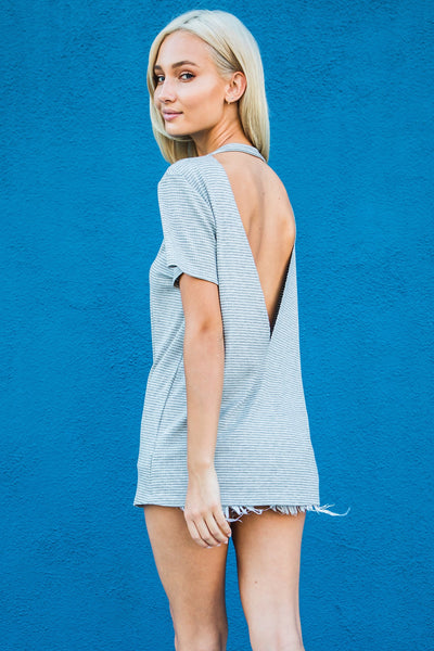 TRACIE OPEN BACK TEE