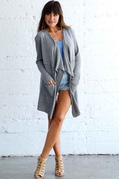 RACHEL RIBBED CARDIGAN