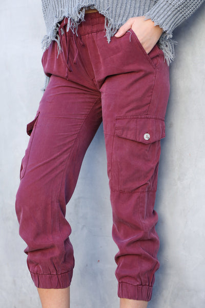 WILLIAM DRAWSTRING PANT (BURGUNDY)