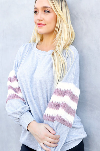 KODIAK STRIPED SWEATSHIRT (GREY)