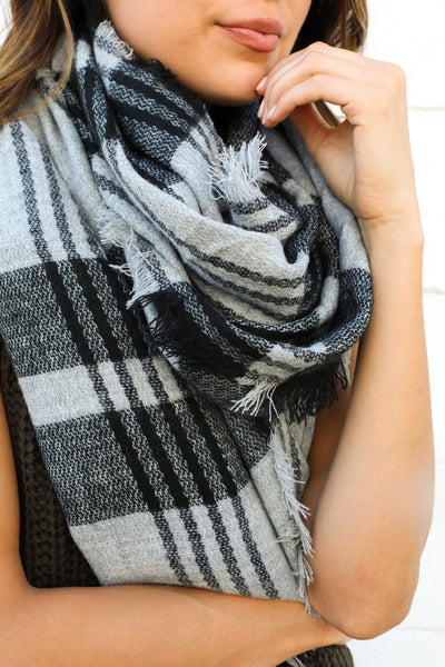 PERRY GRID SCARF