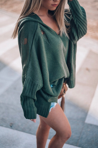 COOPER HOODED SHORT KNIT