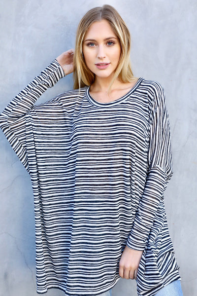 CHARLES STRIPED BASIC (NAVY STRIPE)