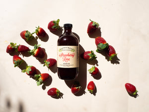 Strawberry Rose shrub tonic mixer