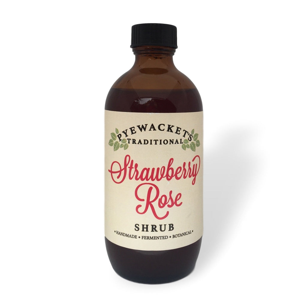 Strawberry rose shrub botanical mixer