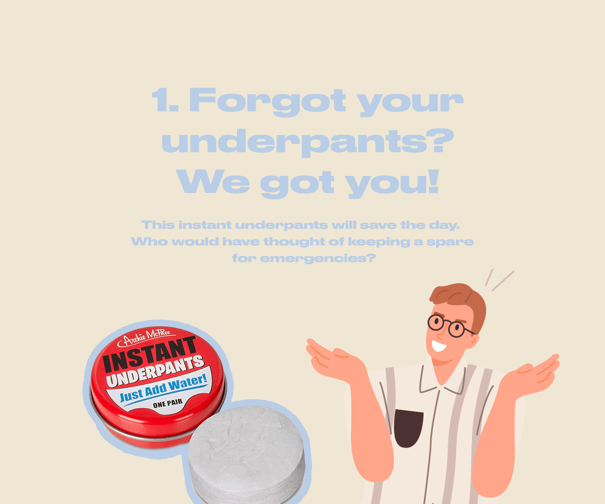 Forgot your underpants? We got you!