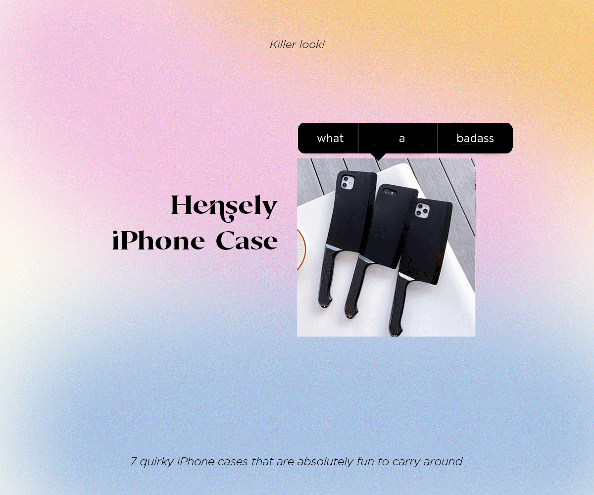 Hensely iPhone Case