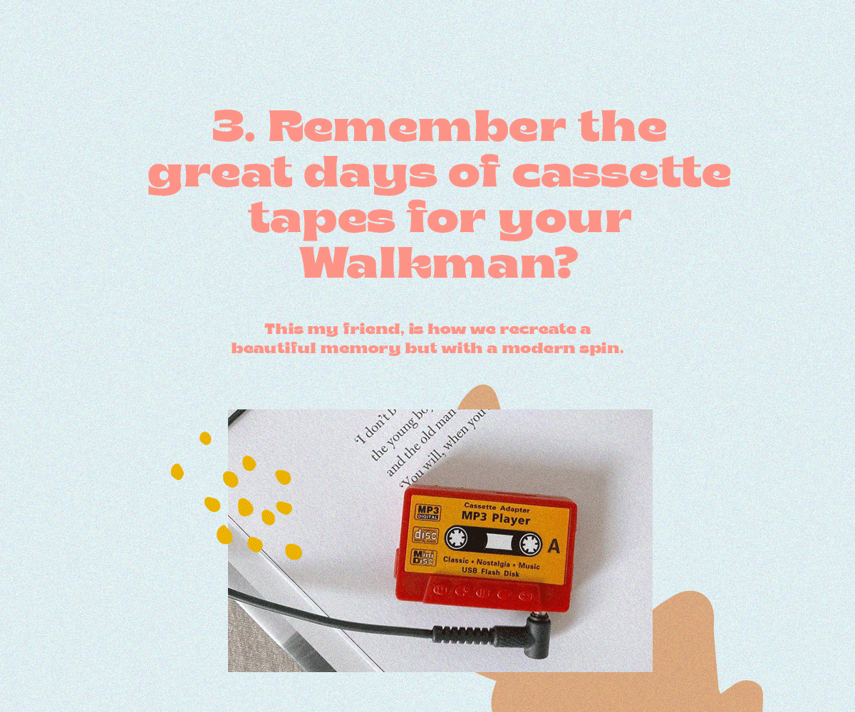 Walkman and cassette tapes