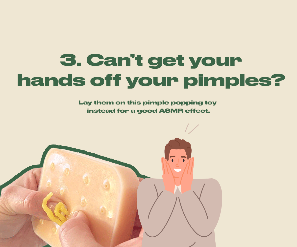 Can't get your hands off your pimples?