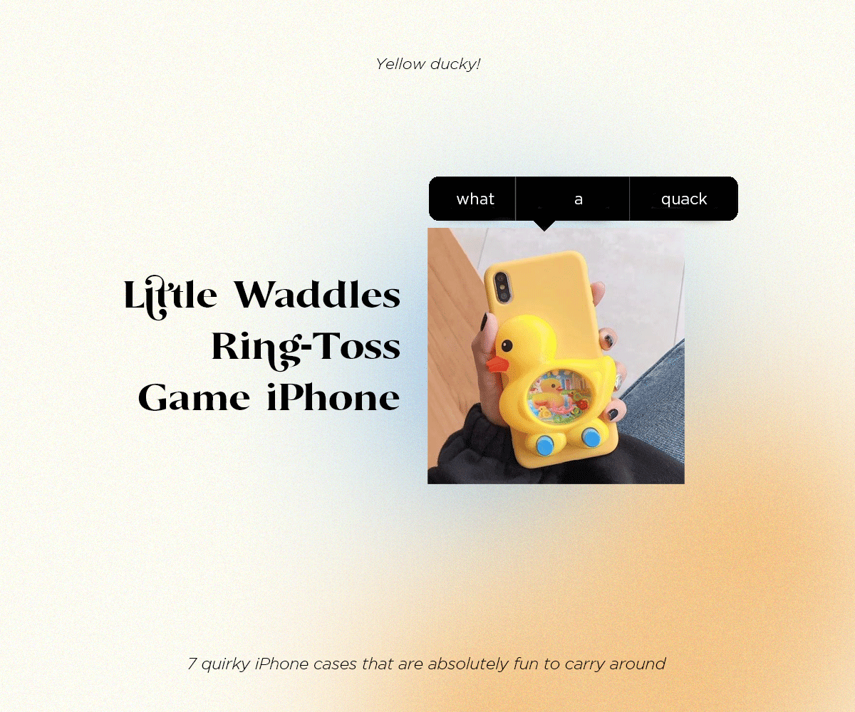 Little Waddles Ring-Toss Game iPhone
