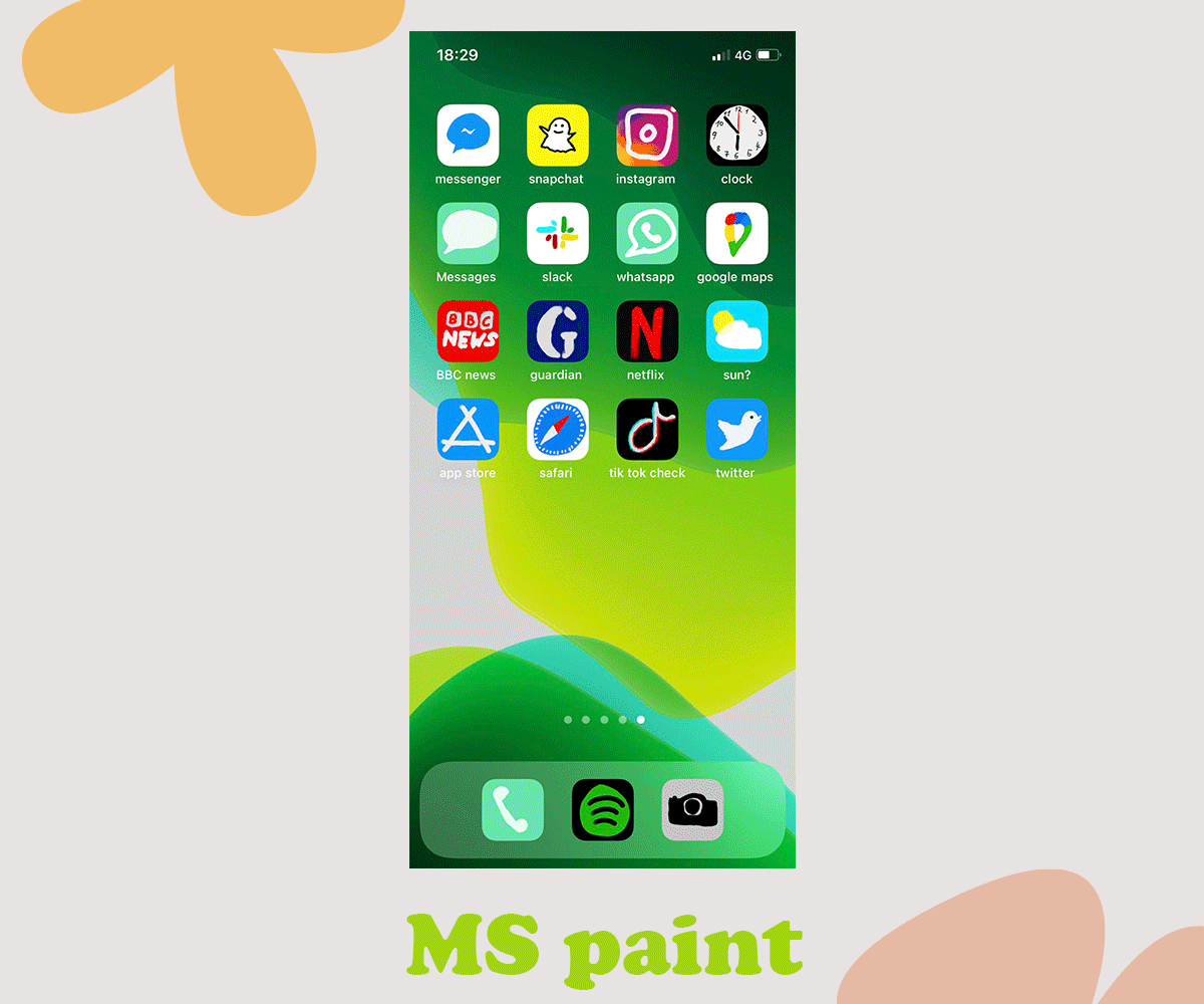 ios 14 MS paint home screen