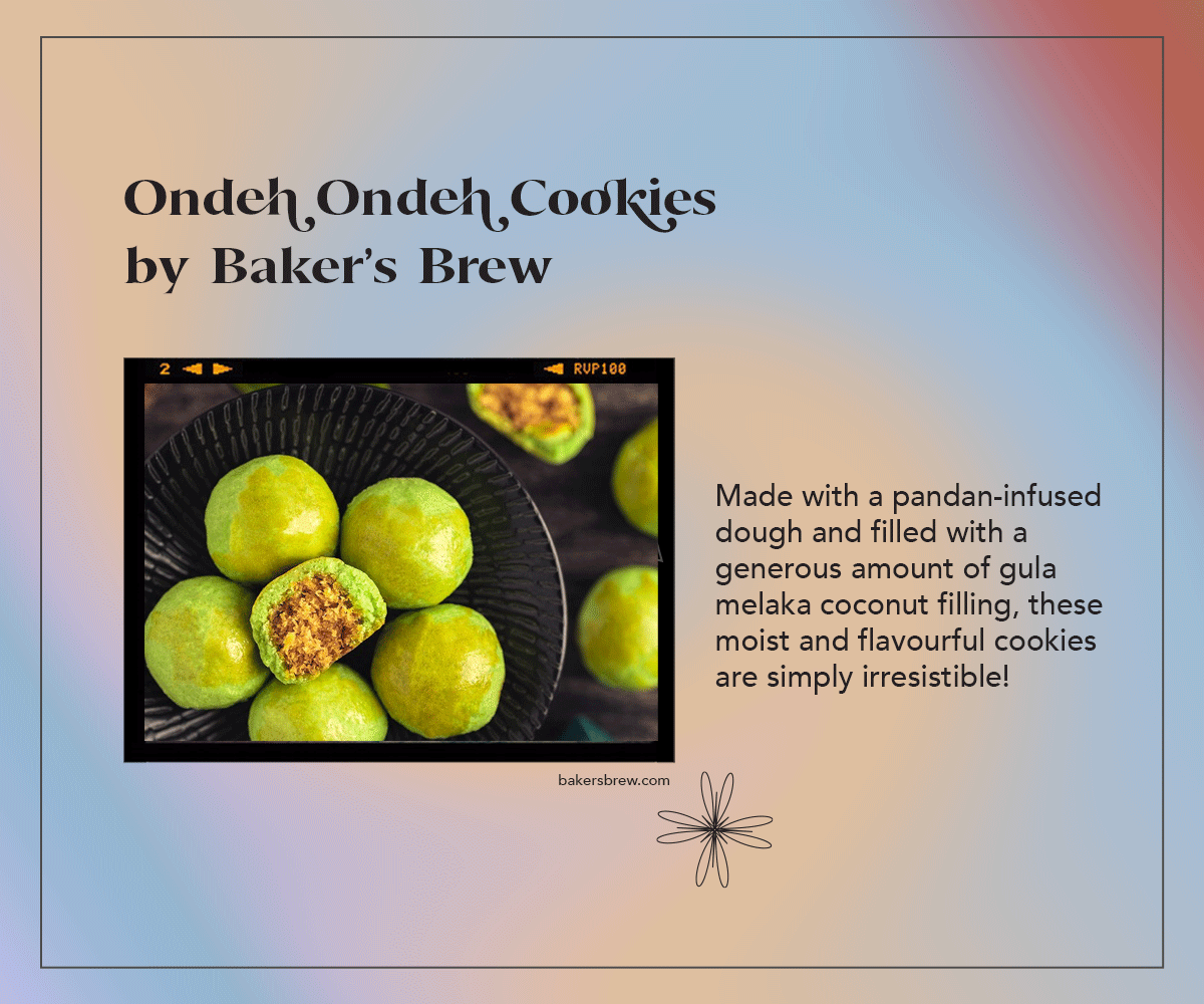 Ondeh Ondeh Cookies by Baker's Brew