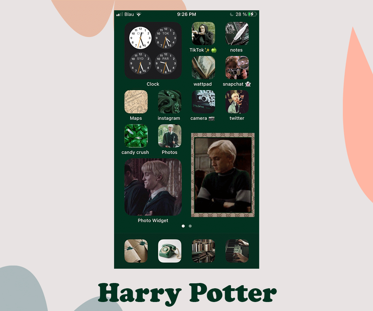 ios 14 Harry Potter home screen