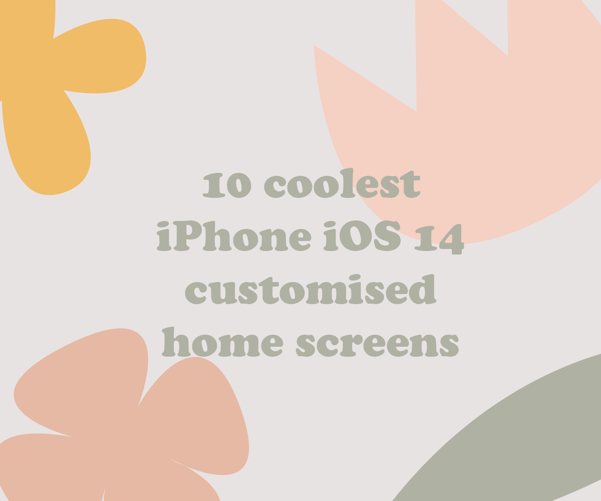 10 coolest iPhone iOS 14 customised home screens