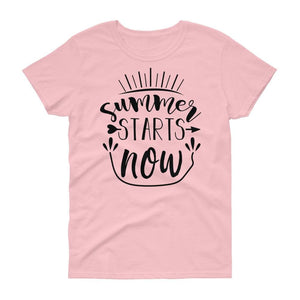 SUMMER STARTS WOMEN'S T SHIRT | HUESOME