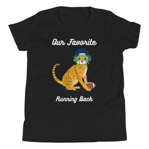CAT FOOTBALL KID'S T SHIRT | HUESOME