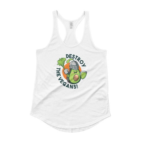 DESTROY THE VEGANS WOMEN'S TANK TOP | HUESOME