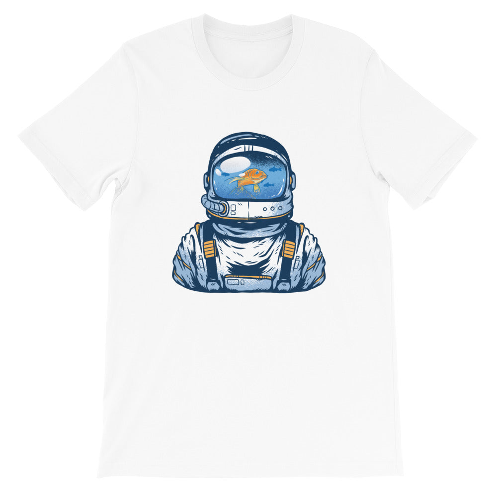 ASTRONAUT FISH BOWL SPACE FORCE UNISEX T SHIRT-HUESOME