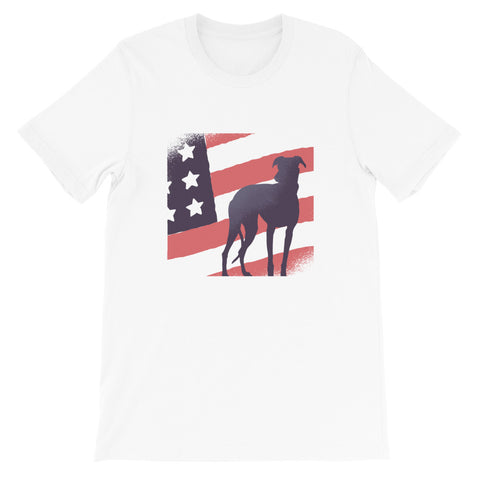 4TH JULY AMERICAN DOG UNISEX T SHIRT-HUESOME