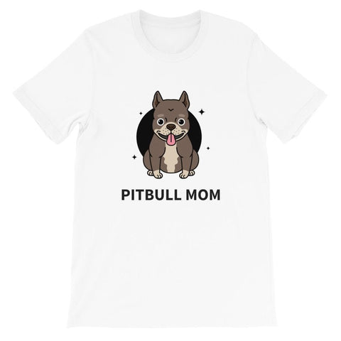 PITBULL MOM WOMEN'S T SHIRT | HUESOME