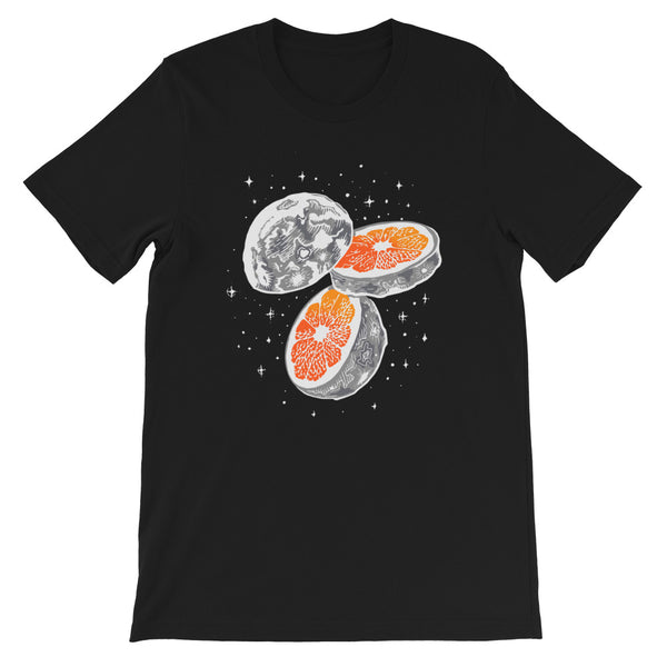 MOON ORANGE SPACE FORCE UNISEX T SHIRT-HUESOME