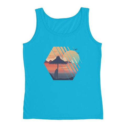 SUMMER ON BEACH LADIES TANK TOP | HUESOME