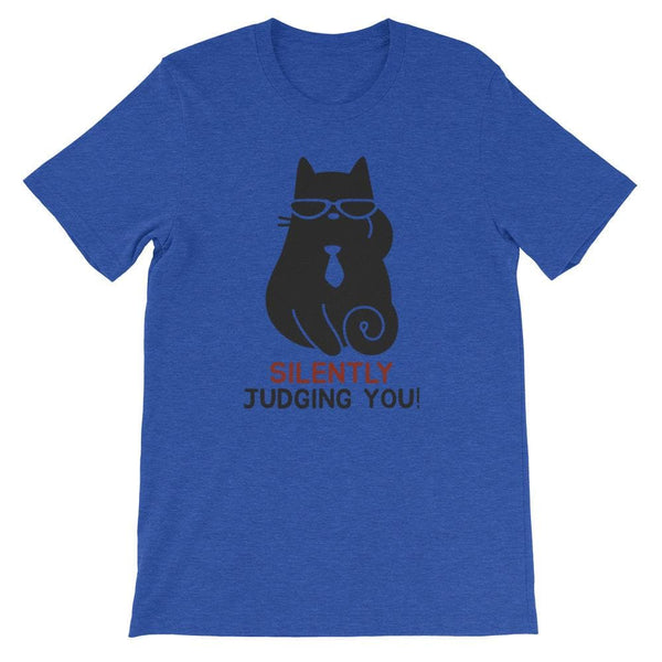 JUDGING CAT UNISEX T SHIRT | HUESOME