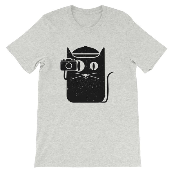 CAT WITH CAMERA UNISEX T SHIRT | HUESOME
