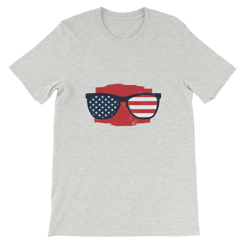 4TH JULY AMERICAN GLASSES UNISEX T SHIRT-HUESOME