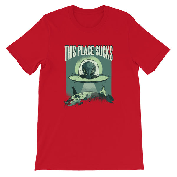 SPACE FORCE PLANET SUCKS UNISEX T SHIRT-HUESOME