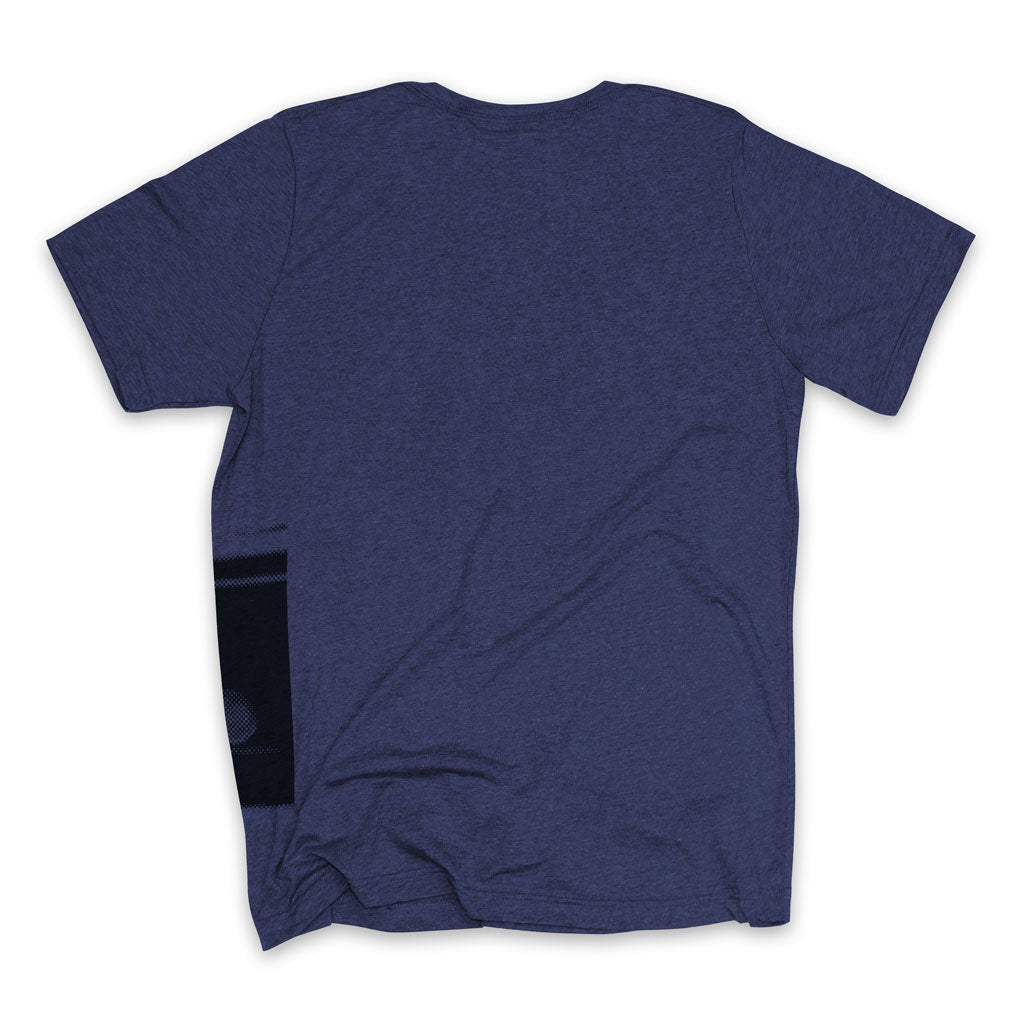 Back of Stick it Wear?! 'ANARCHY IN THE UK' Tennis Crew T-shirt in navy.