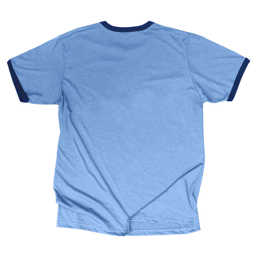 Back of Stick it Wear?! ARGENTINA Soccer Vintage Ringer t-shirt in blue.