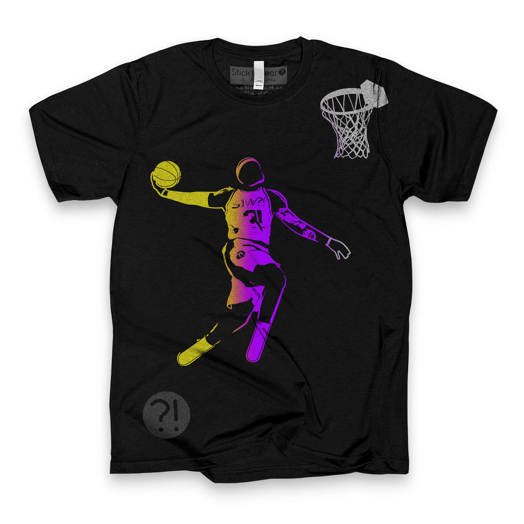 BRO Shoot-Around Basketball Tee in Black