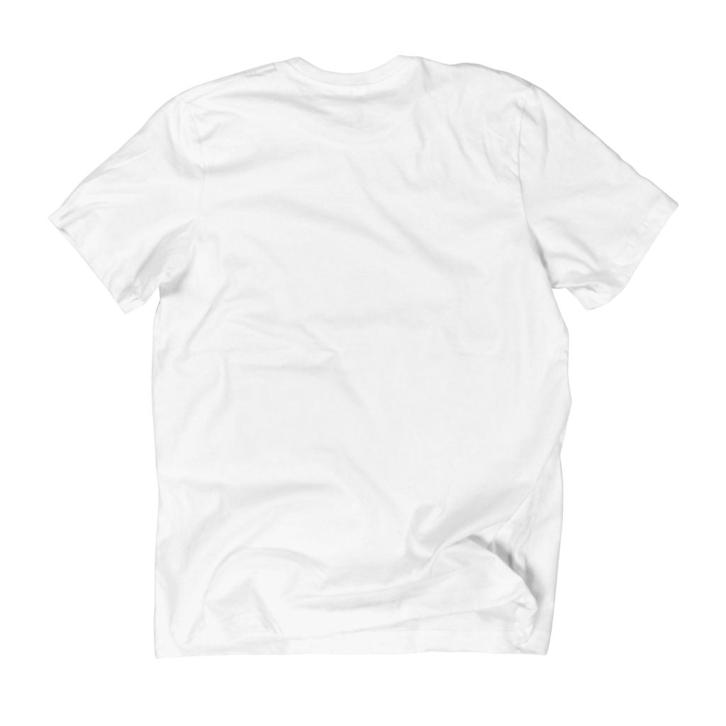 Back of Stick it Wear?! 'CAN'T HOLD ME BACK' Tennis Crew T-shirt in white.