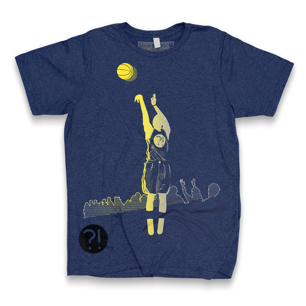 Front of Stick it Wear?! 'COOKING' basketball shoot-around t-shirt in old navy.