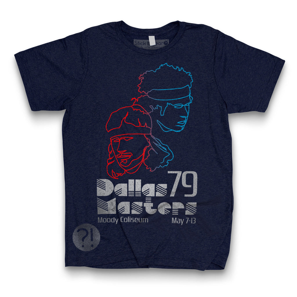 Front of Stick it Wear?! 'DALLAS MASTERS' Tennis Crew T-shirt in navy.