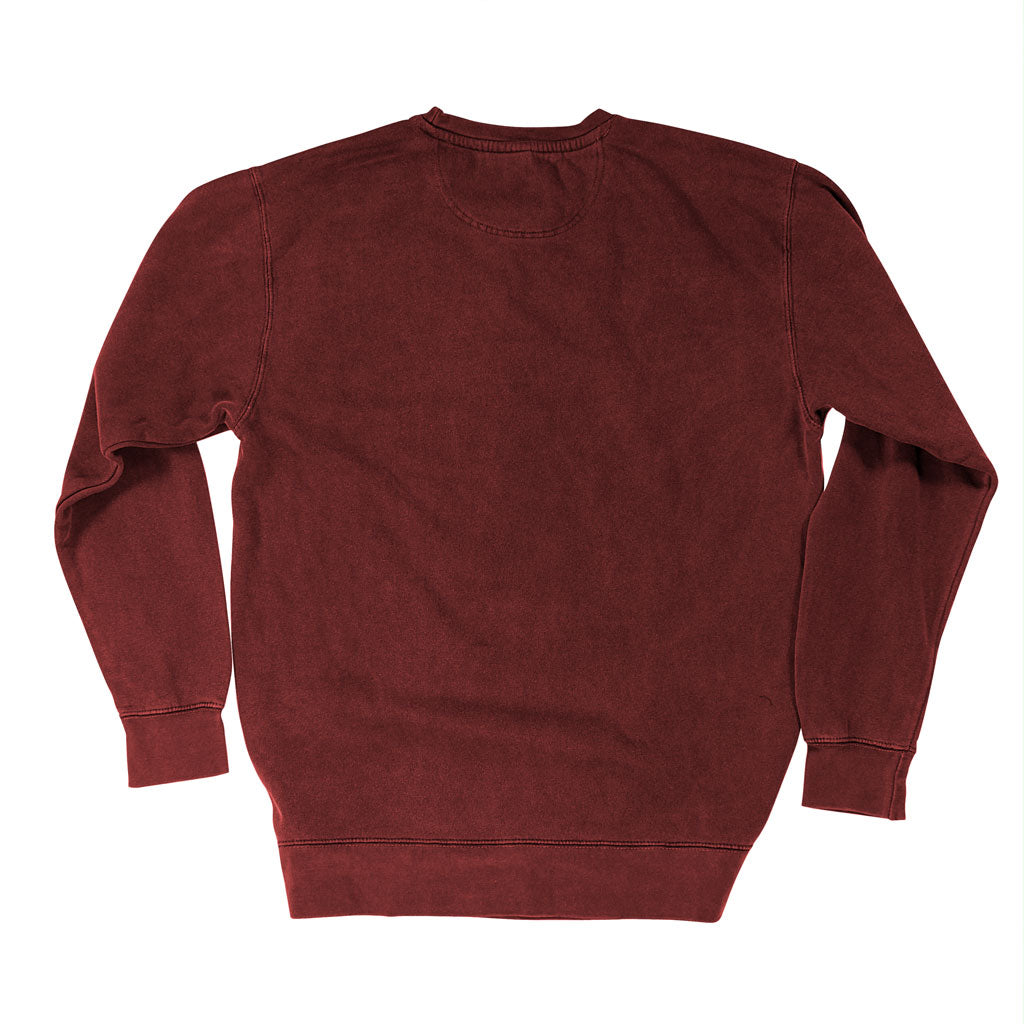 Back of Stick it Wear?! 'DESERT COURT' Tennis Front Office sweatshirt in cardinal.