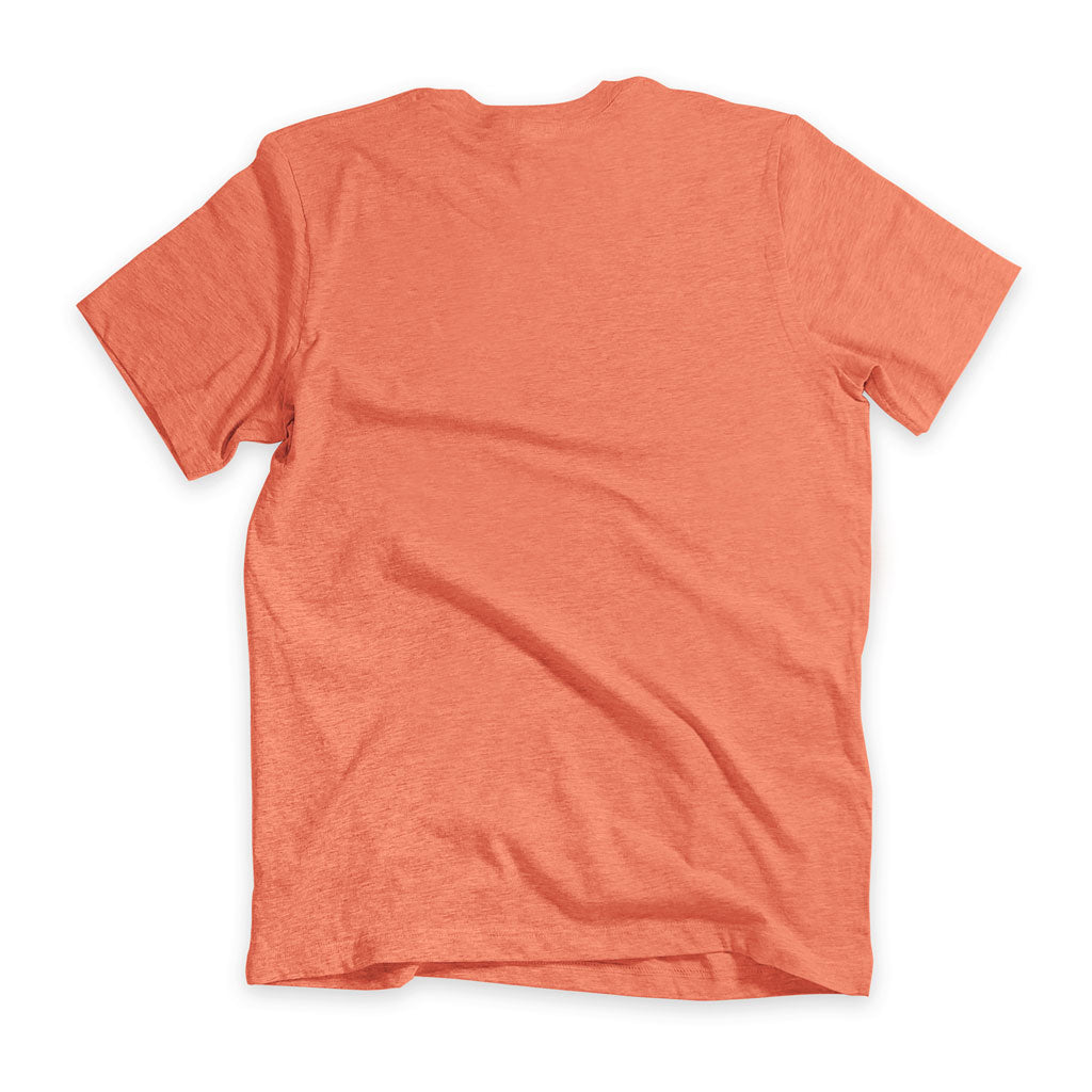 Back of Stick It Wear?! 'FLYING DMAN' Soccer V-Neck t-shirt in orange.