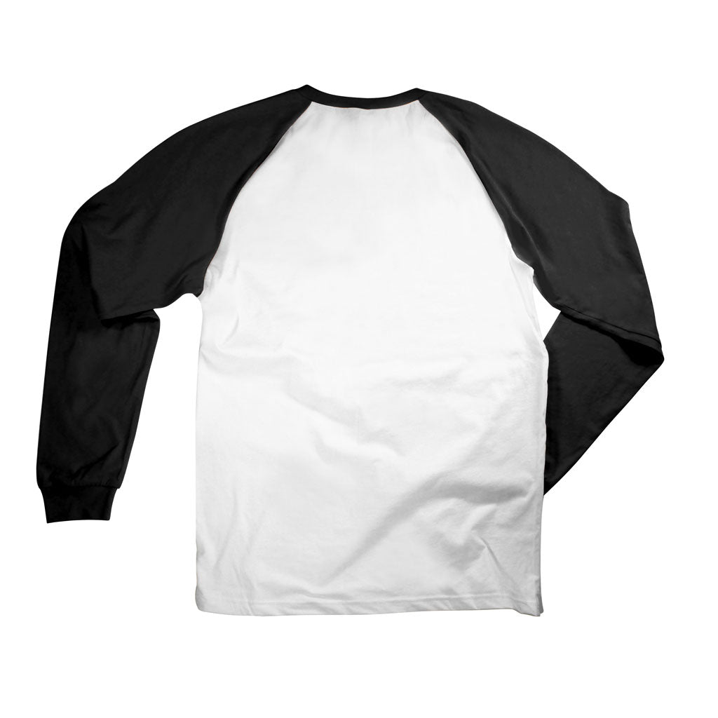 Back of Stick It Wear?! 'FRIDAY NIGHT FIGHTS' Starting-lineup long shirt in white with black sleeves.