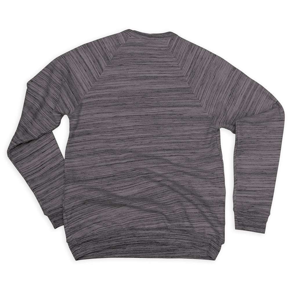 Back of Stick it Wear?! 'IN SCHOOL' Football sweatshirt in marble gray.