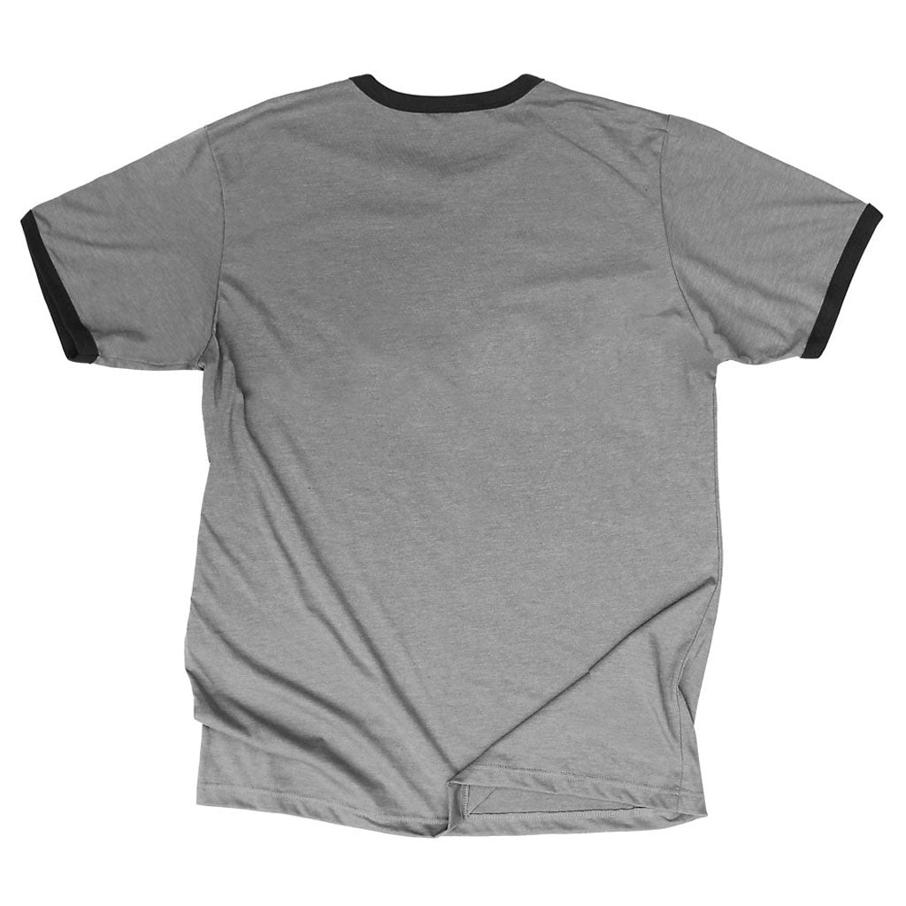 Back of Stick it Wear?! HOLLAND Prideful Soccer Vintage Ringer t-shirt in heather gray.