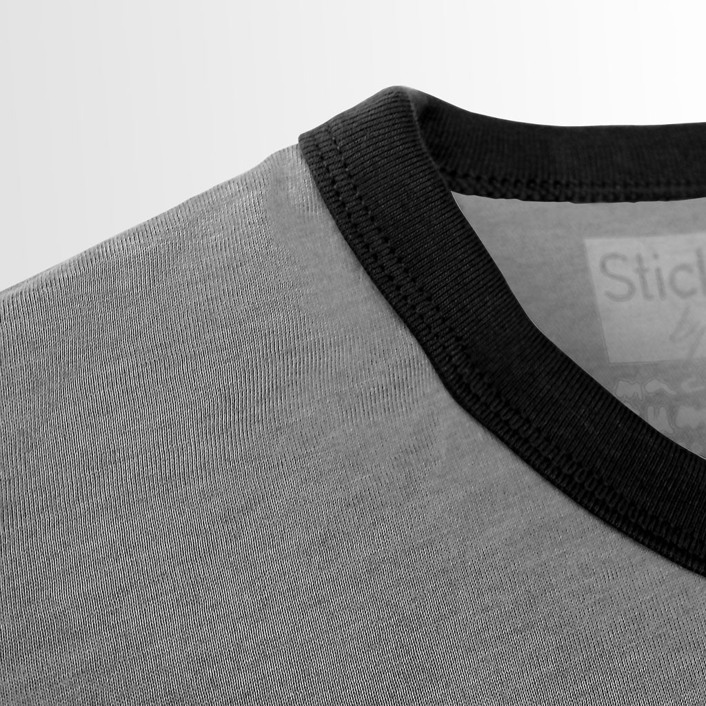 Collar of Stick it Wear?! HOLLAND Prideful Soccer Vintage Ringer t-shirt in heather gray.