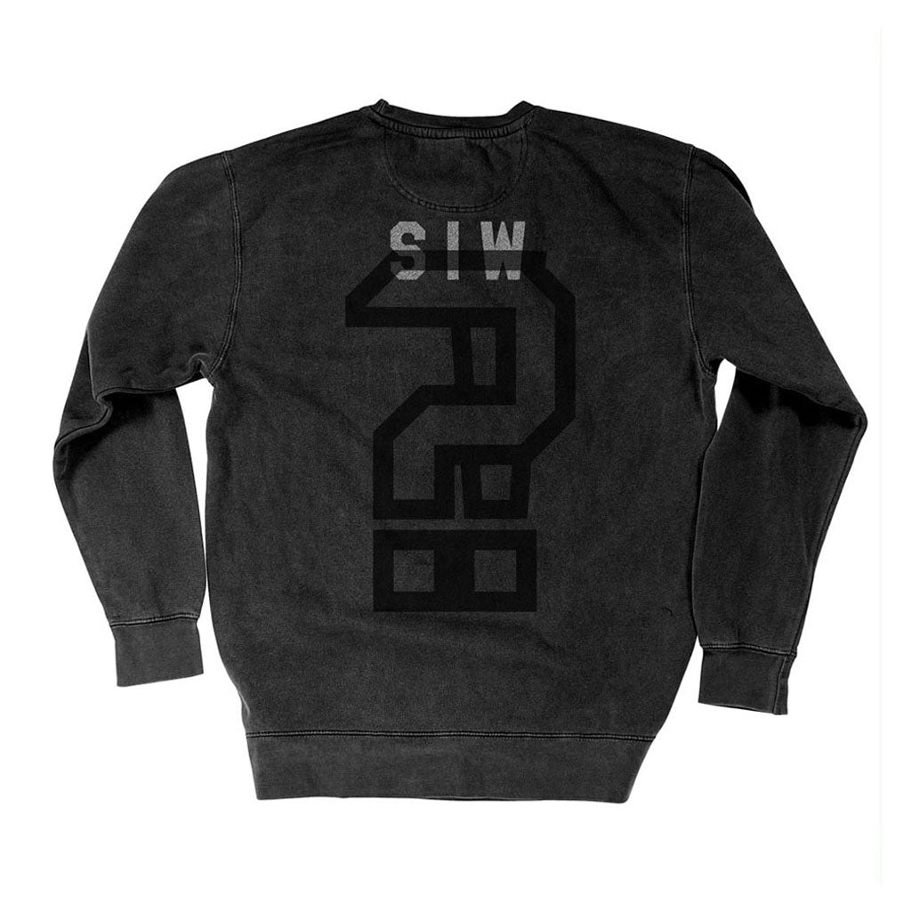 Back of Stick it Wear?! 'KIDDER' Hockey Front Office sweatshirt in black.