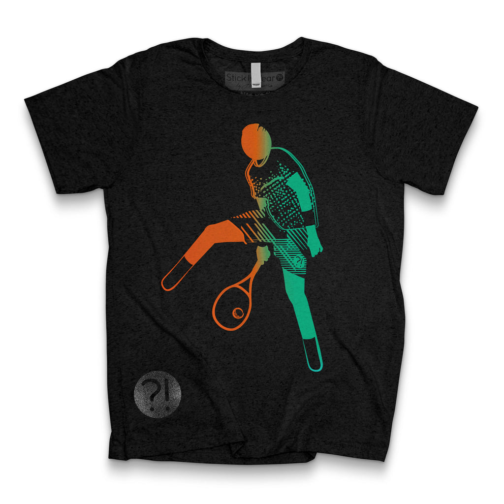 Front of Stick it Wear?! 'KYRG8-OS_FETT' Tennis Tee in black.